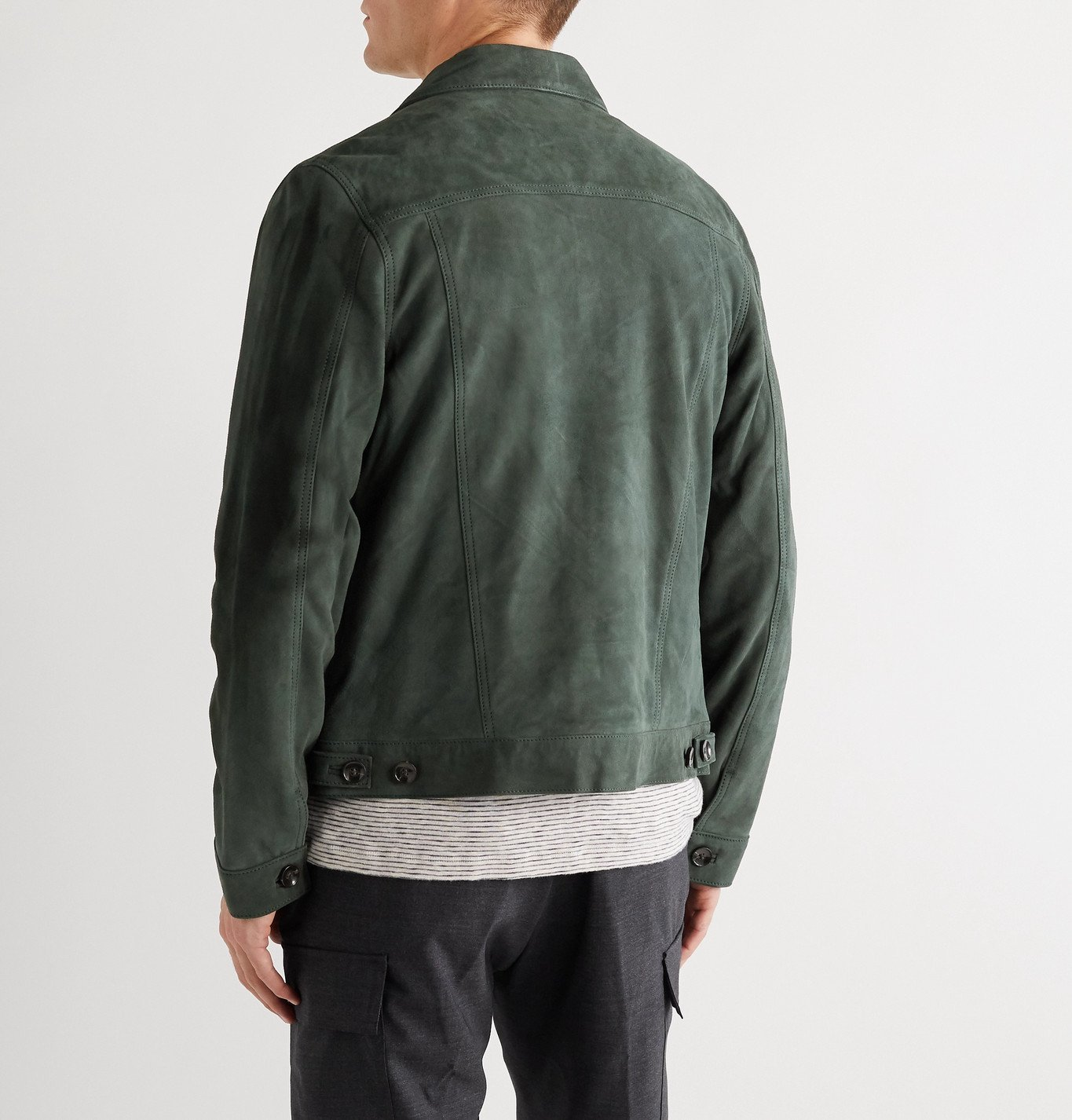 Officine Generale - Liam Suede Jacket - Green