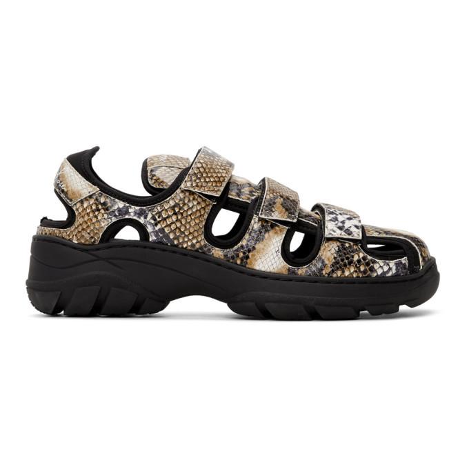 Martine Rose Beige and Black Hiking Sandals