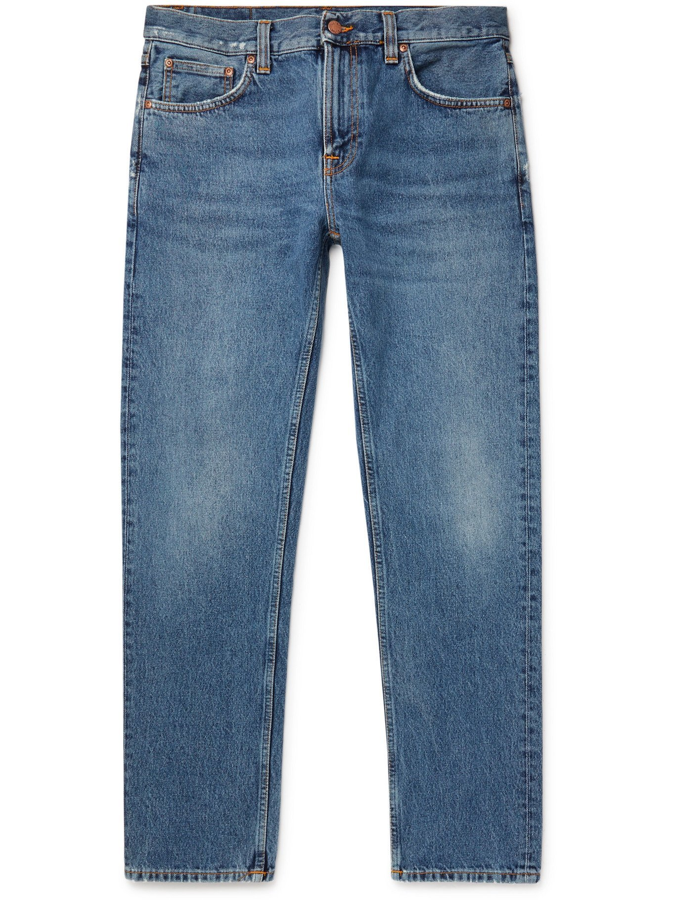 Photo: NUDIE JEANS - Gritty Jackson Slim-Fit Denim Jeans - Blue - 30W 32L
