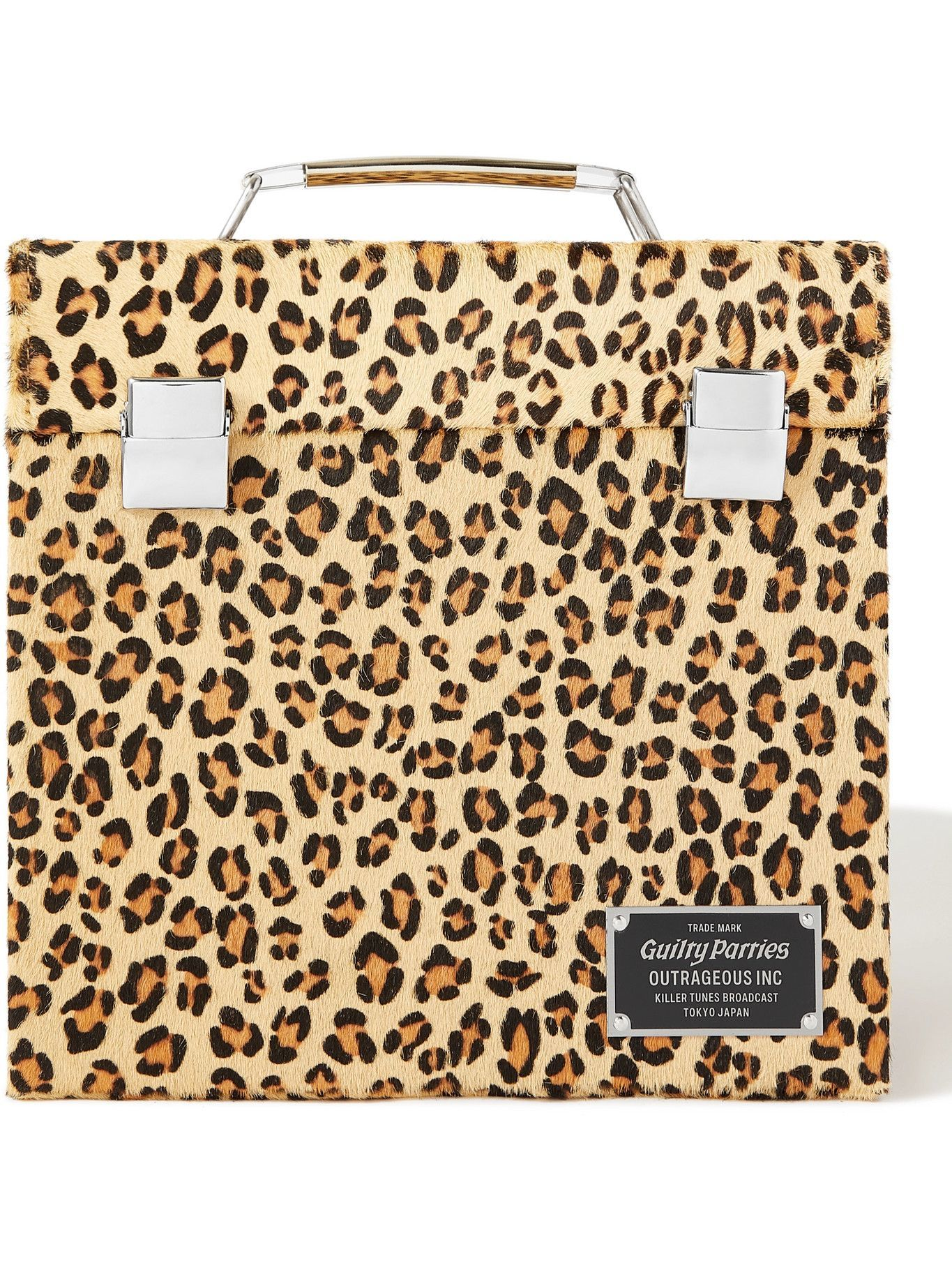 Photo: Wacko Maria - Speak Easy Leopard-Print Calf Hair Record Box