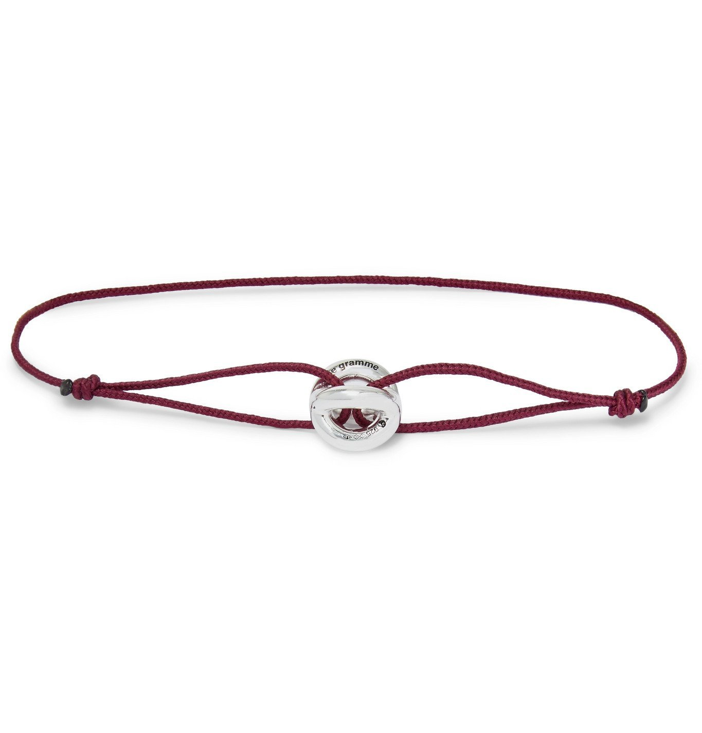 Photo: Le Gramme - Sterling Silver and Cord Bracelet - Burgundy