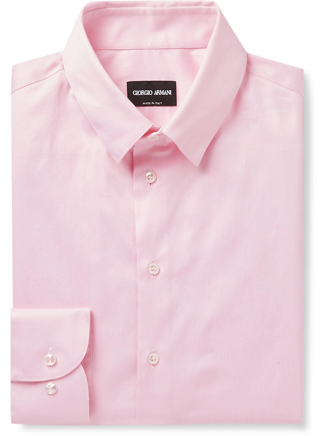 GIORGIO ARMANI - Cotton Shirt - Pink - EU 41