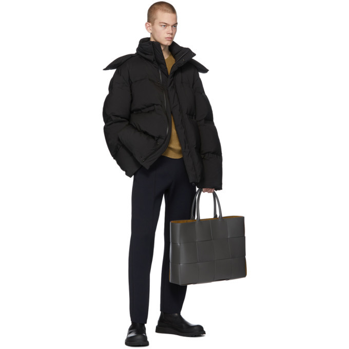 Bottega Veneta Black Down Matt Jacket