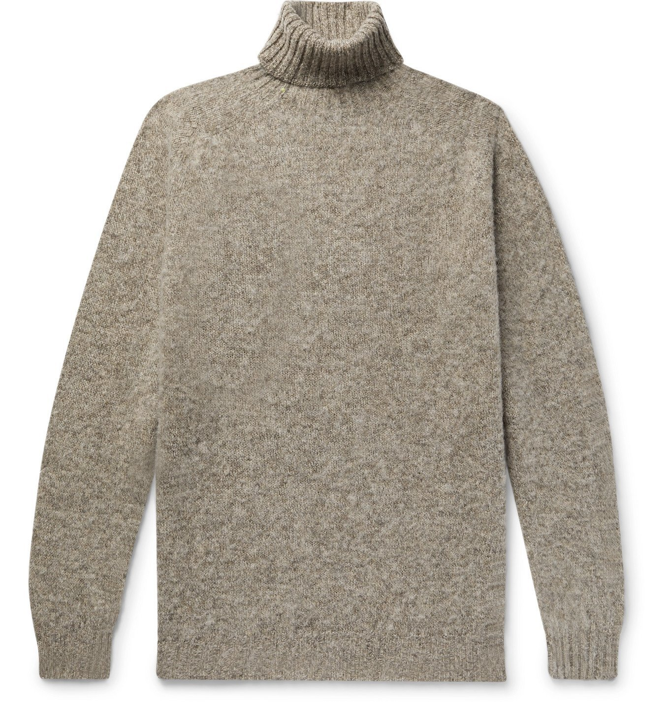 Photo: Howlin' - Sylvester Slim-Fit Mélange Wool Rollneck Sweater - Neutrals