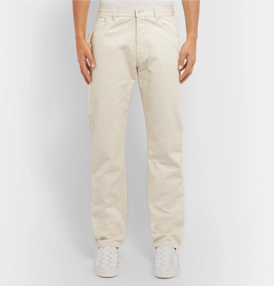 Bottega Veneta - Cotton-Twill Trousers - Off-white