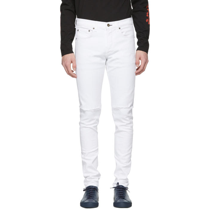 Photo: Rag and Bone White Distressed Fit 1 Jeans