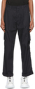 MCQ Black Pleated Airy Cargo Pants