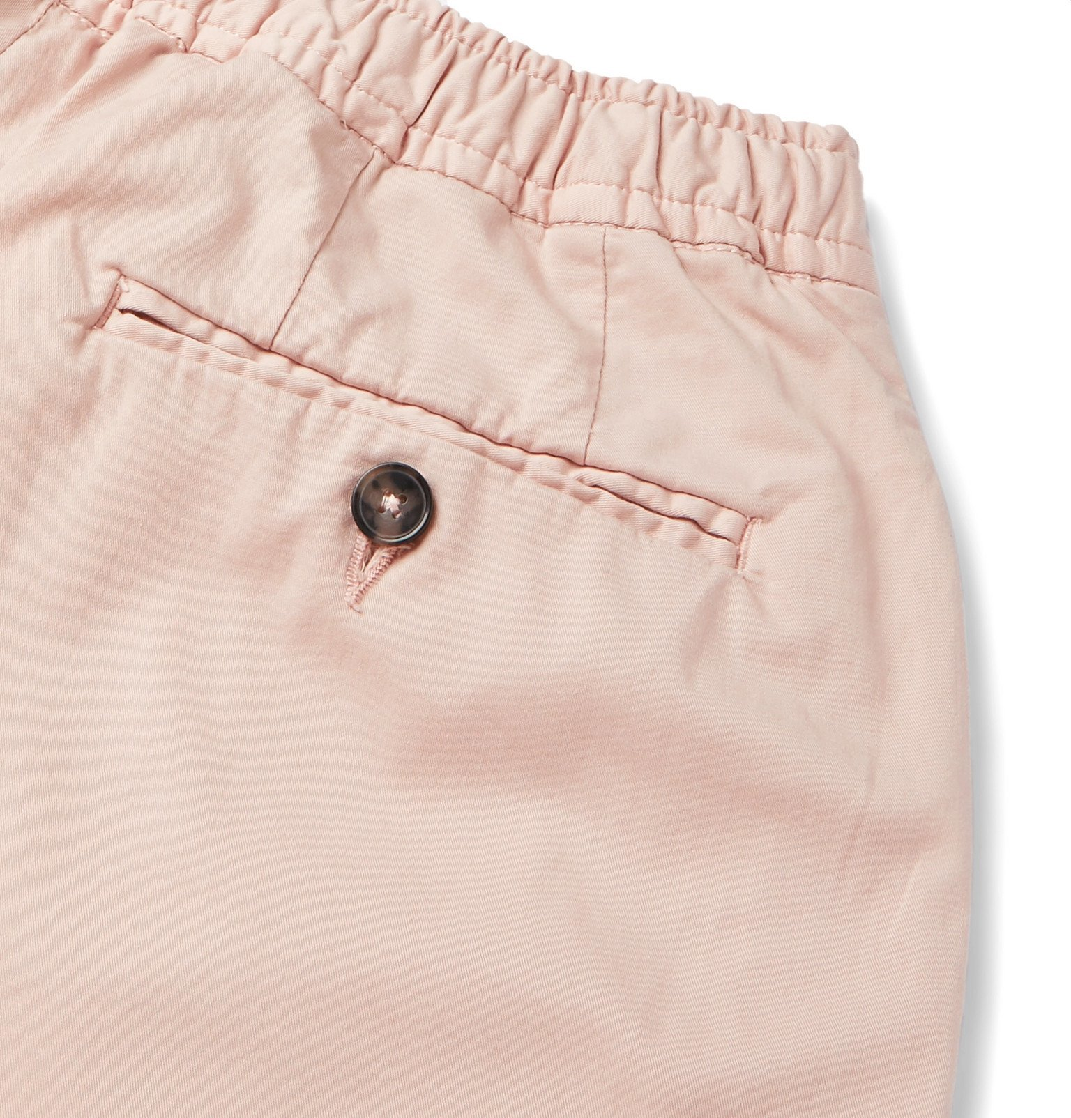 Officine Generale - Phil Garment-Dyed Stretch-Cotton Drawstring Shorts - Pink