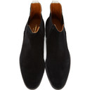 Common Projects Black Suede Chelsea Boots