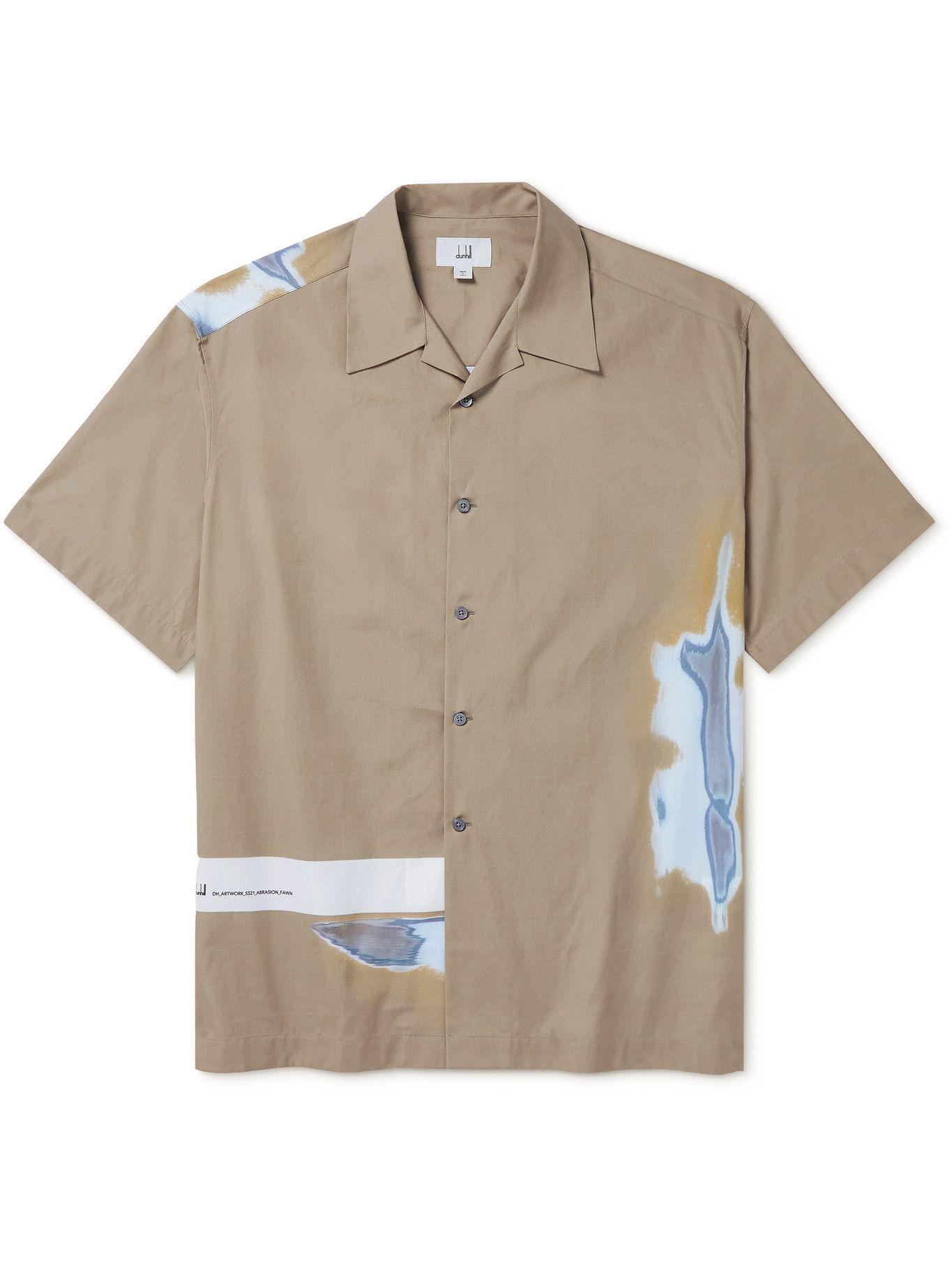 DUNHILL - Camp-Collar Printed Cotton Shirt - Neutrals