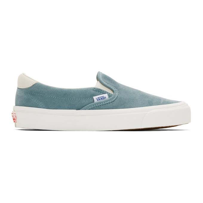Photo: Vans Blue Suede OG 59 LX Slip-On Sneakers