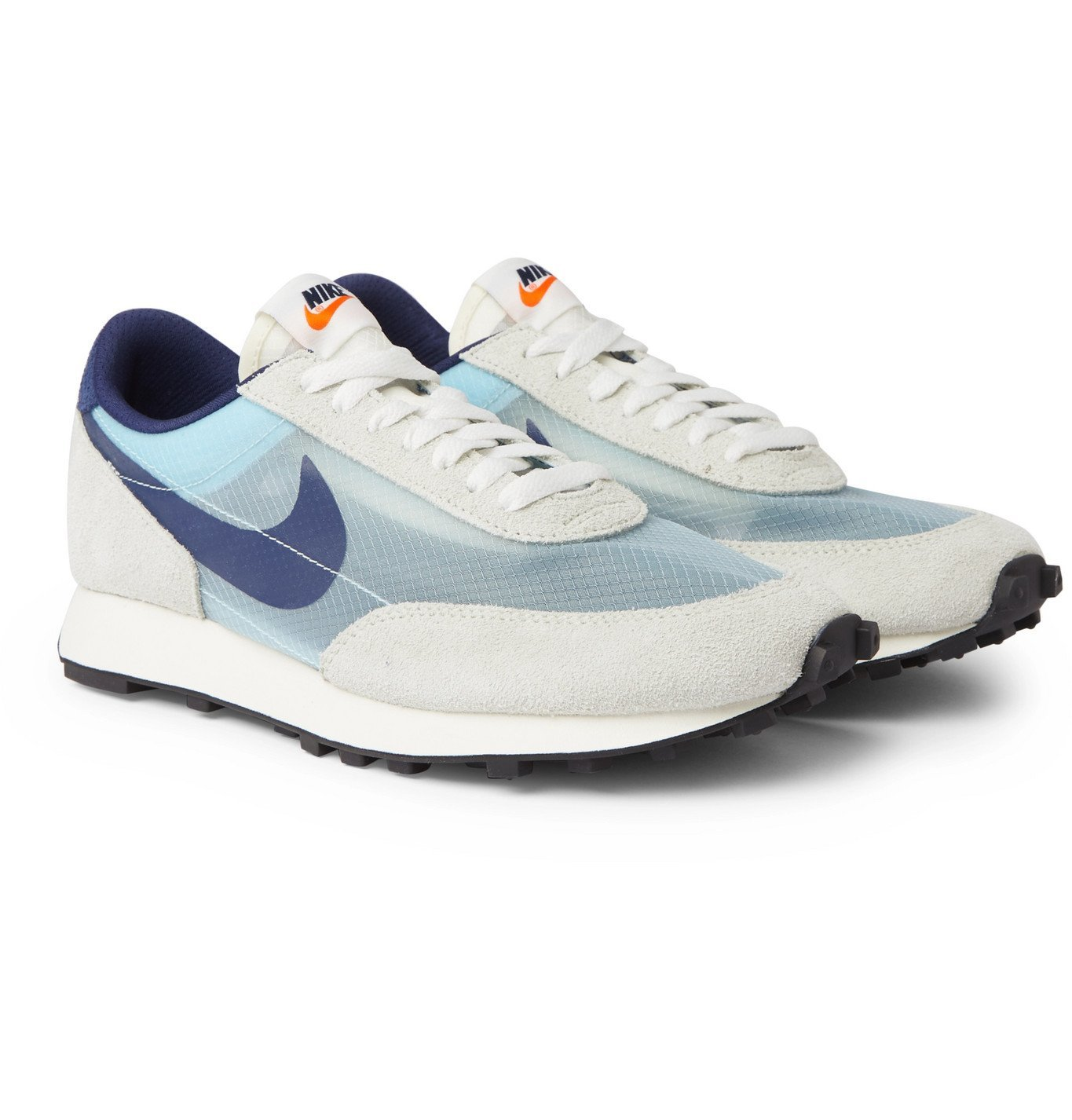 Photo: Nike - Daybreak SP Faux Suede and Ripstop Sneakers - Gray