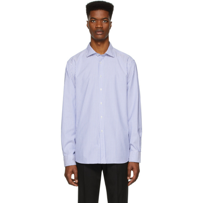 Photo: Ralph Lauren Purple Label Blue and White Striped Oxford Shirt