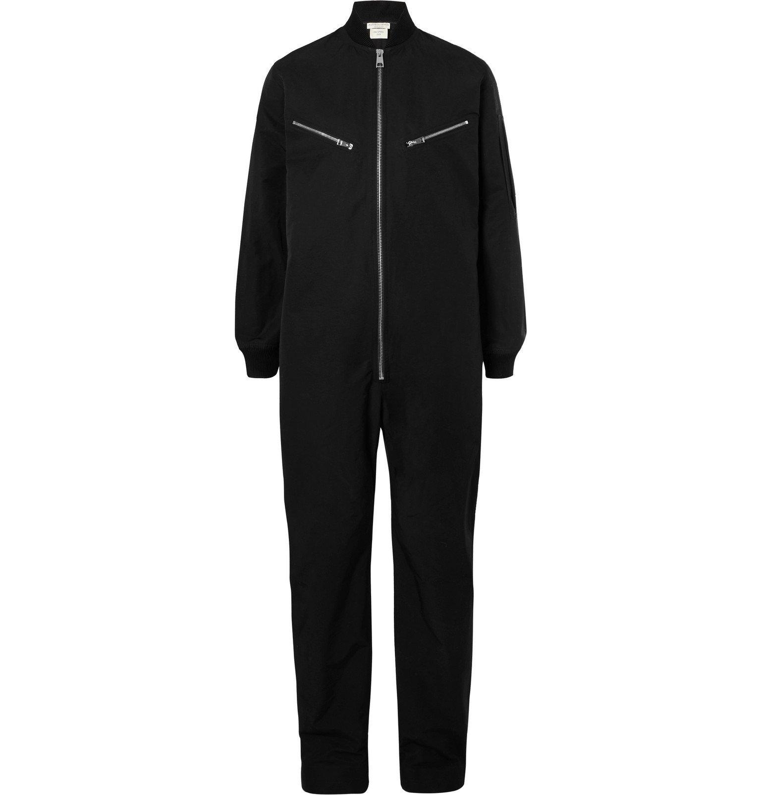 Photo: Bottega Veneta - Cotton-Blend Jumpsuit - Black