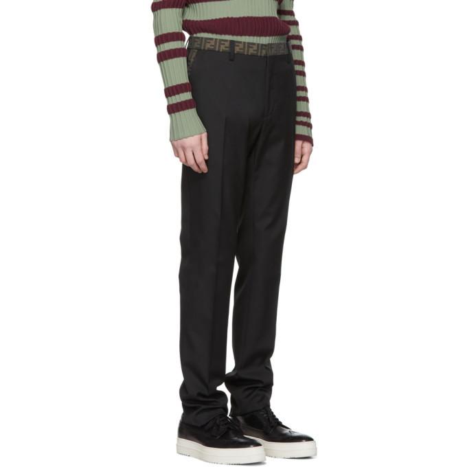 Fendi Black Forever Fendi Pleated Trousers