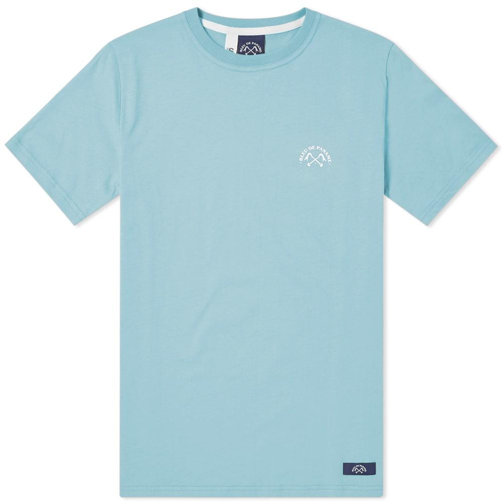 Photo: Bleu de Paname Mini Logo Tee Blue
