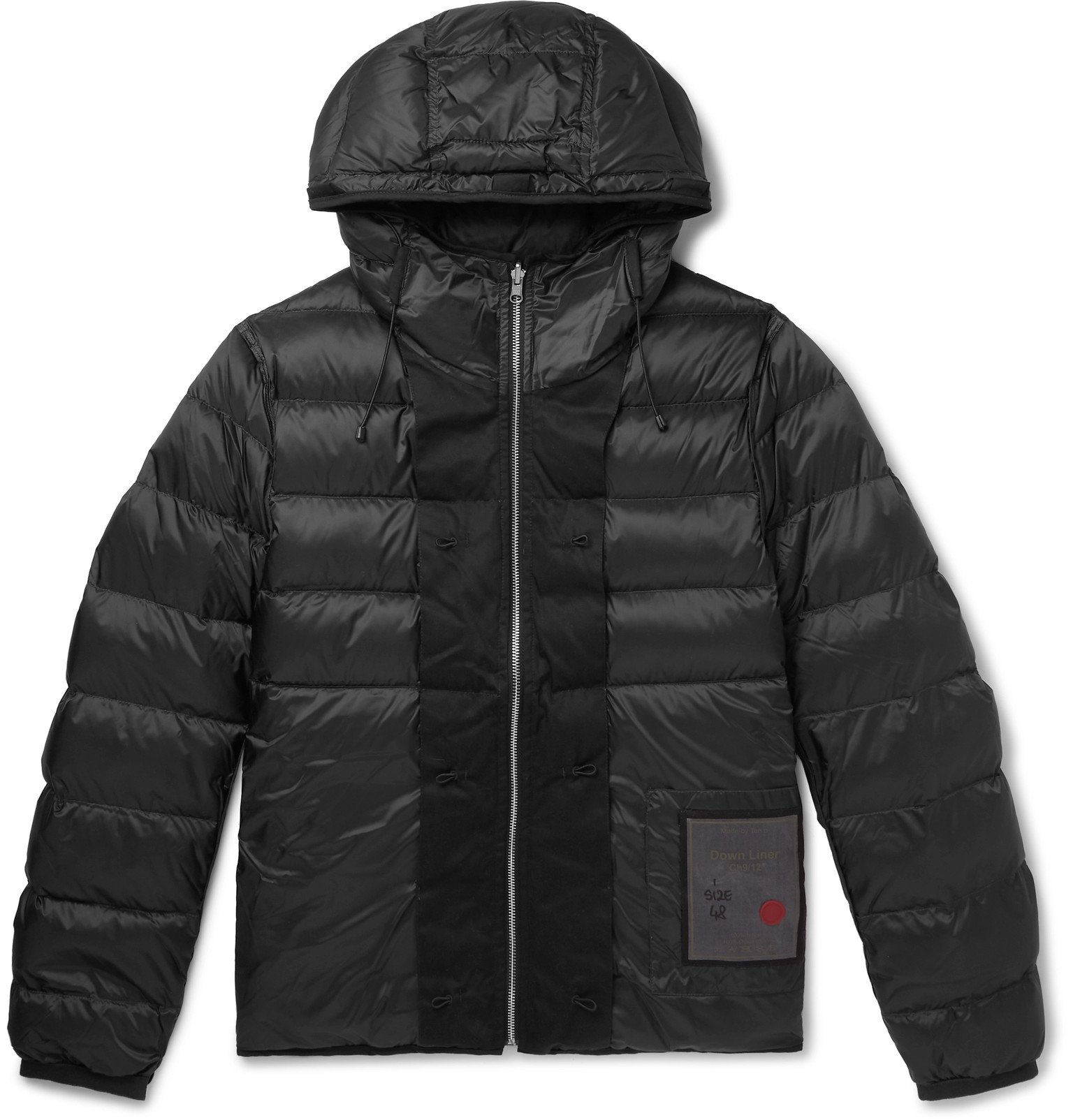 Photo: Ten C - Quilted Nylon Hooded Down Liner - Black
