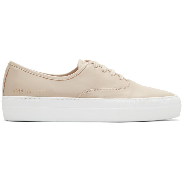 Common Projects Tan Tournament Four Hole Sneakers