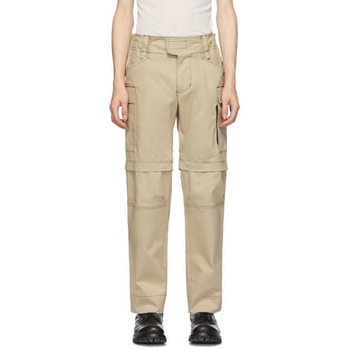 1017 ALYX 9SM Tan Zip-Off Tactical Cargo Pants