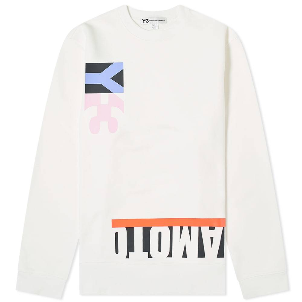 Photo: Y-3 Multi Cut Graphic Crew Sweat