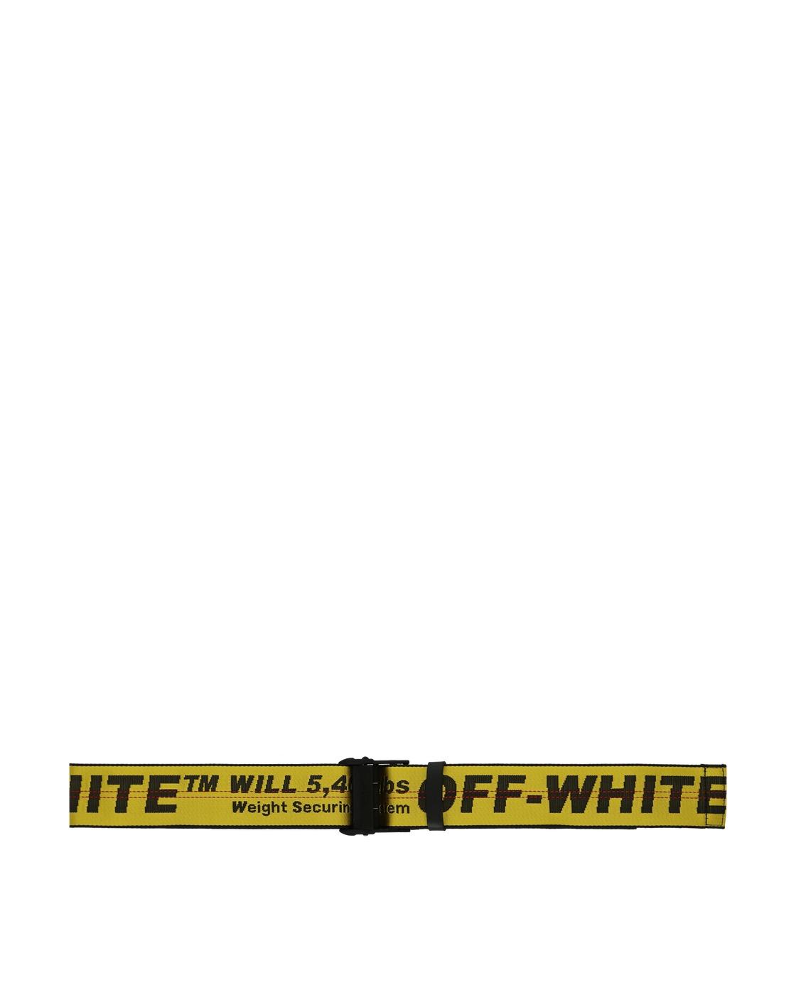Photo: Off White Travel Cabin Luggage Belt Yellow/Black