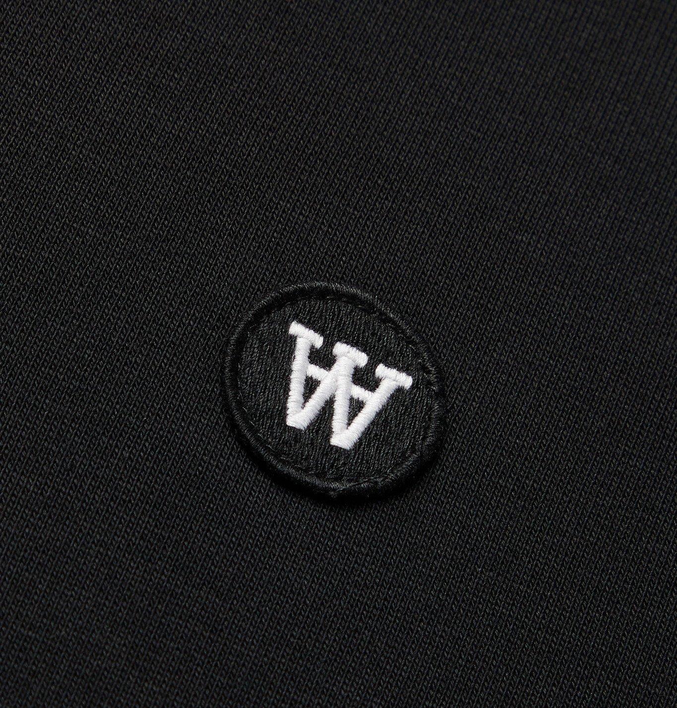 Wood Wood - Tye Logo-Appliquéd Fleece-Back Cotton-Jersey Sweatshirt - Black