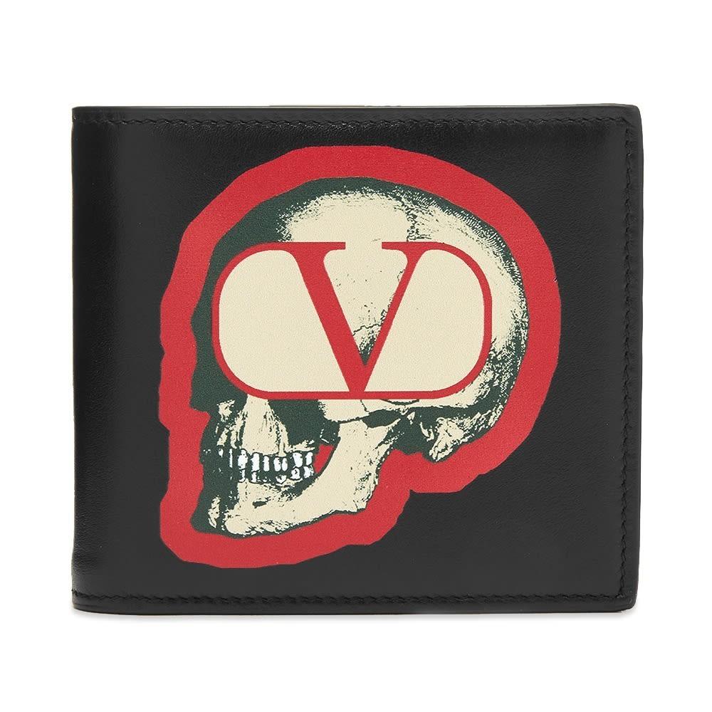 Photo: Valentino x Undercover Skull Leather Billfold Wallet