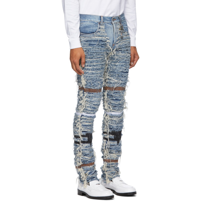 1017 ALYX 9SM Blue Blackmeans Edition Six-Pocket Jeans