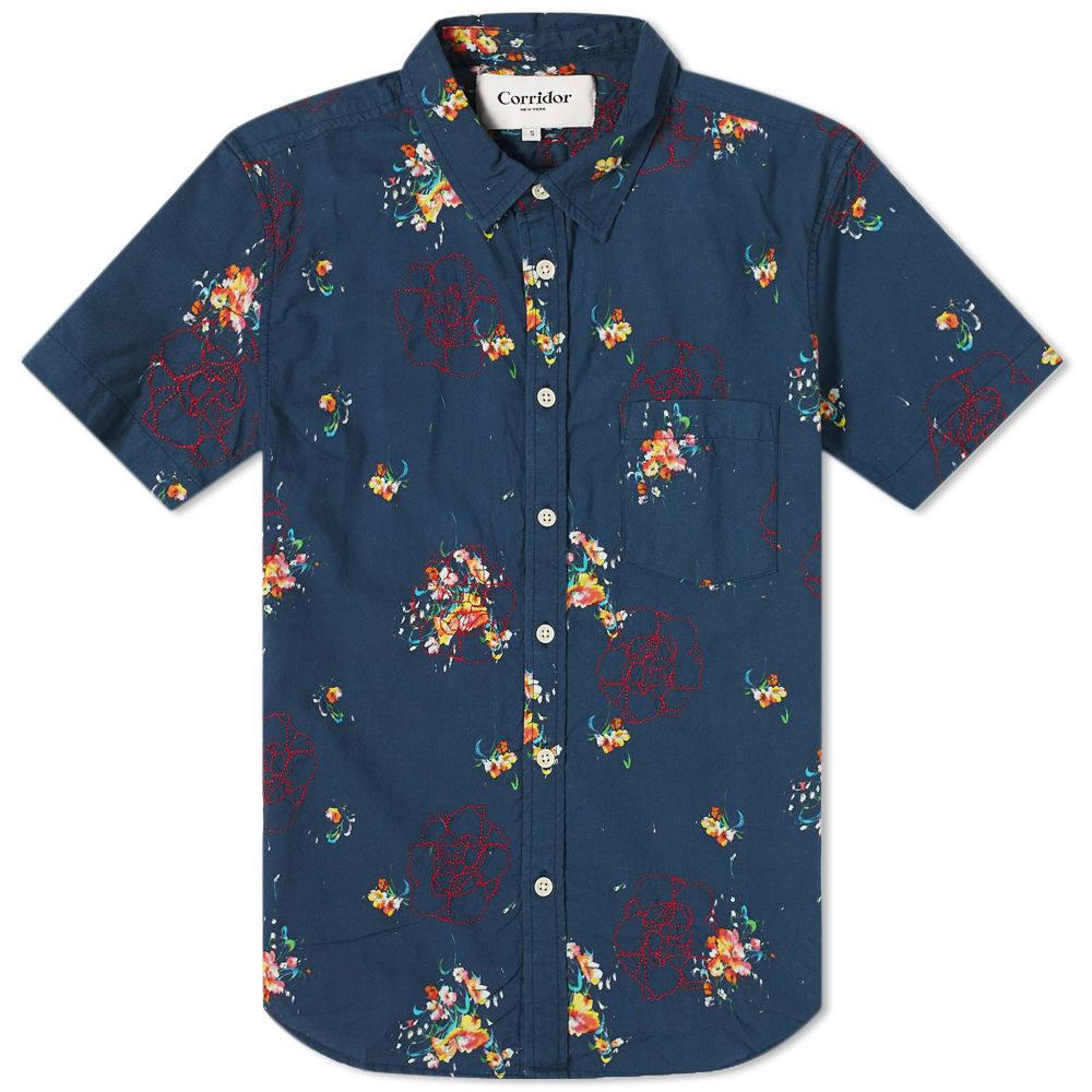 Photo: Corridor Embroidered Bouquet Hawaiian Shirt