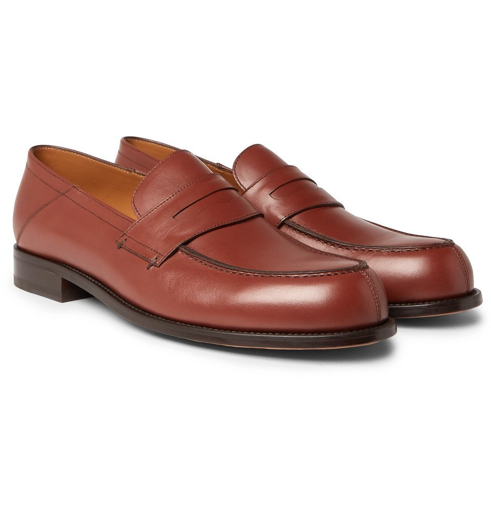 Photo: Mr P. - Dennis Collapsible-Heel Leather Loafers - Brown