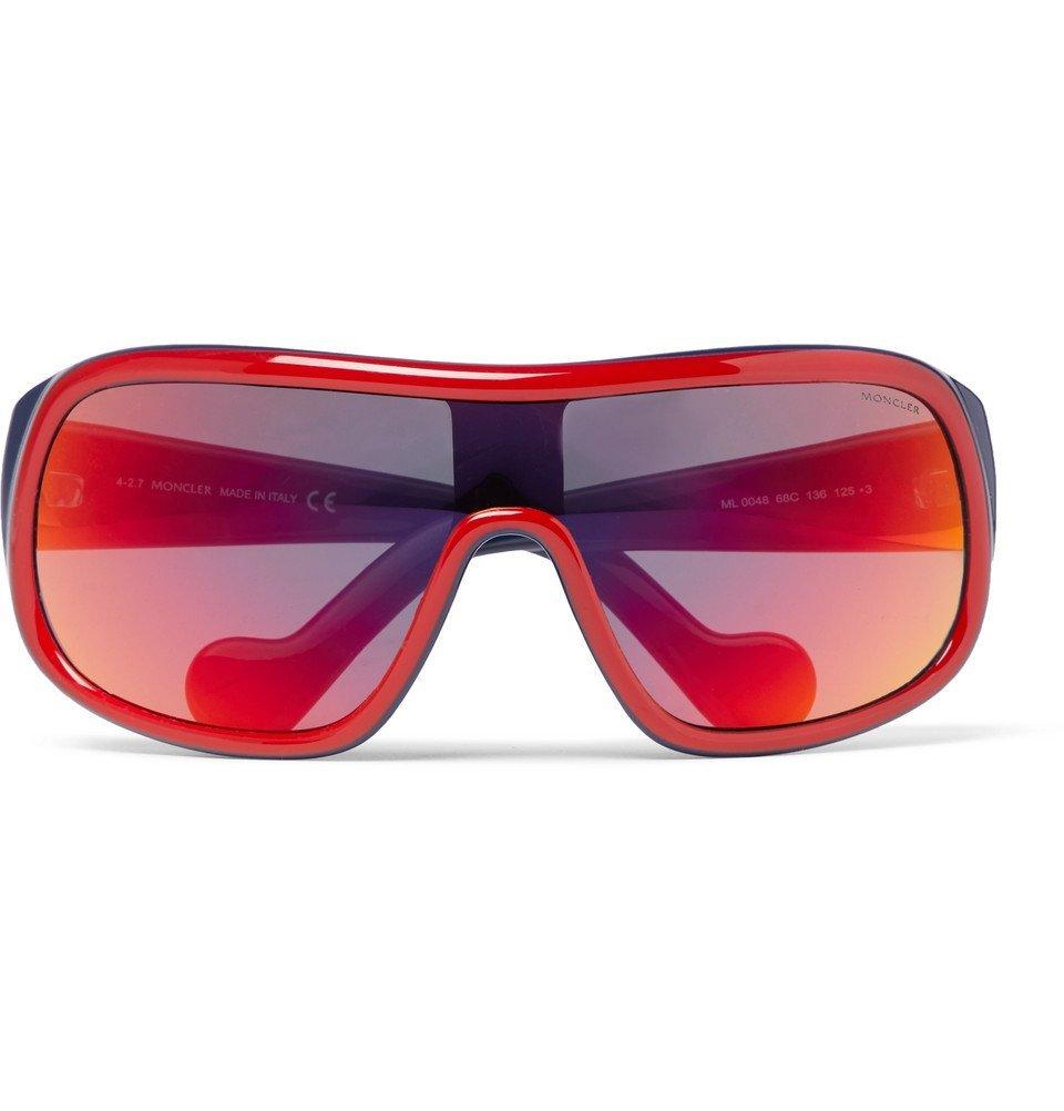 d9a453bf30 Moncler - Acetate Ski Sunglasses - Men - Red Moncler