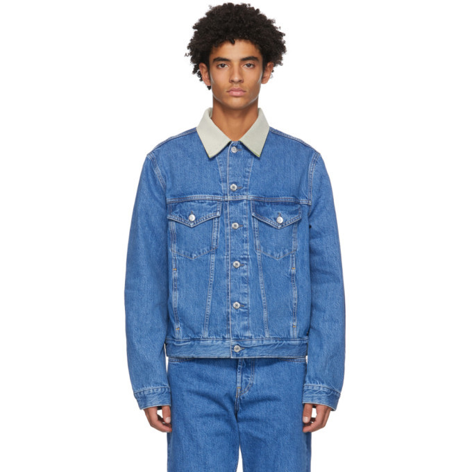 Photo: Helmut Lang Blue Denim Masc Big Trucker Jacket