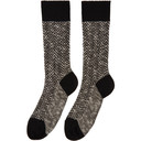 Giorgio Armani Black Patterned Fancy Socks