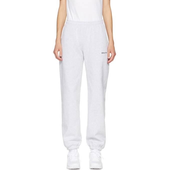 Photo: Sporty and Rich Grey Classic Logo Lounge Pants