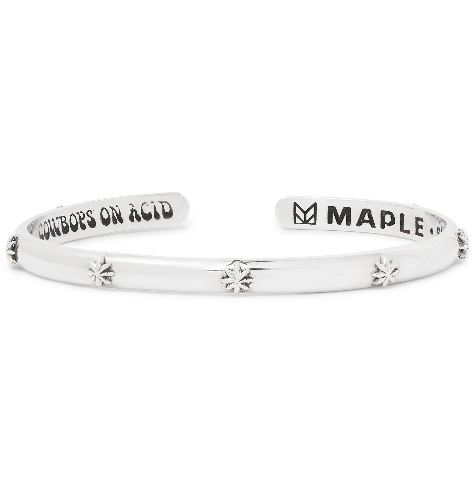 Photo: MAPLE - Hempstar Sterling Silver Cuff - Silver