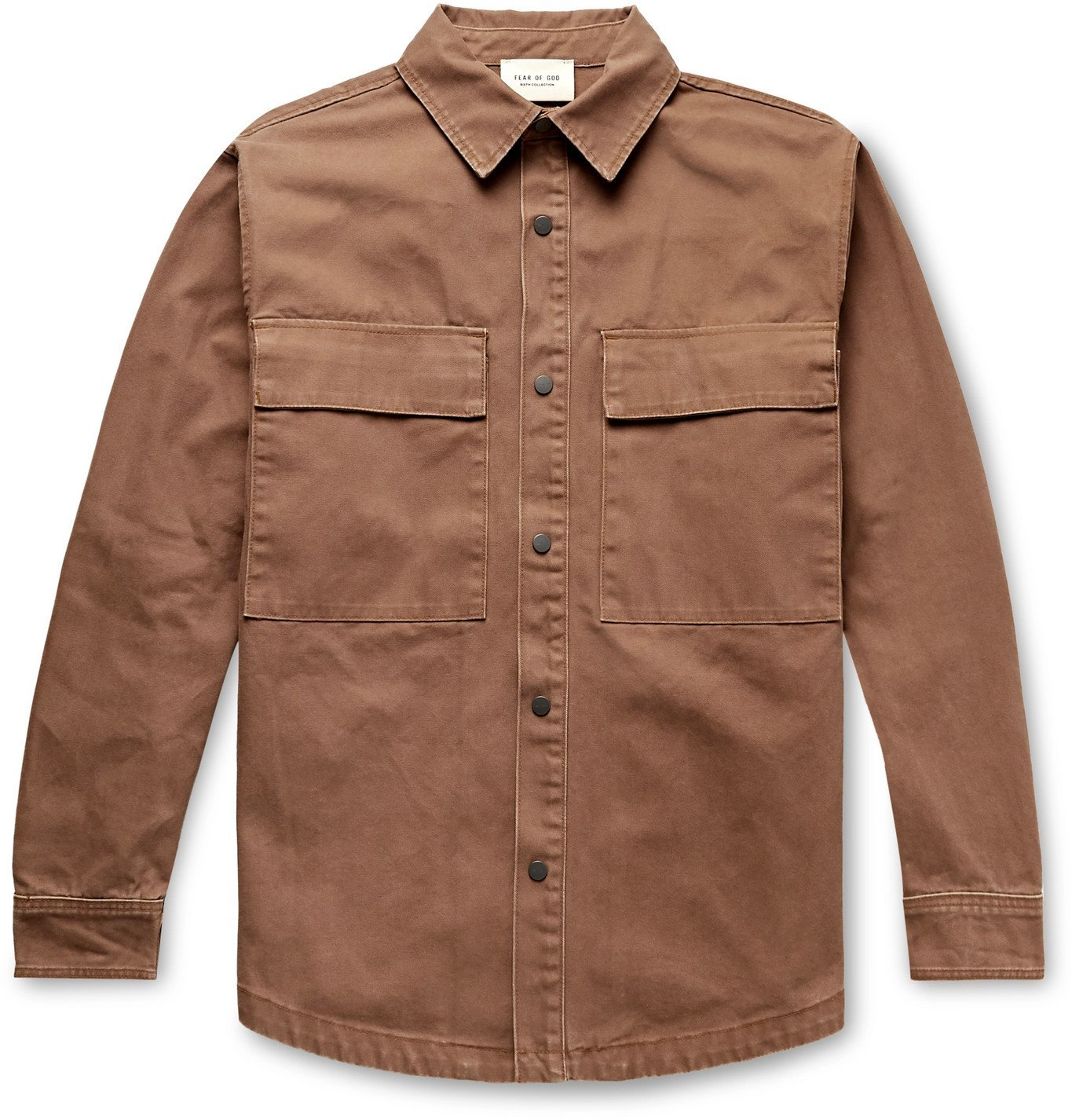 Photo: Fear of God - Cotton-Canvas Shirt Jacket - Brown