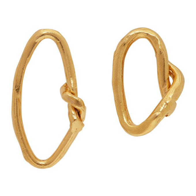 Photo: Alighieri Gold The Wasteland Hoop Earrings
