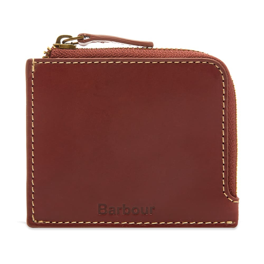 Photo: Barbour Hadleigh Leather Zip Wallet