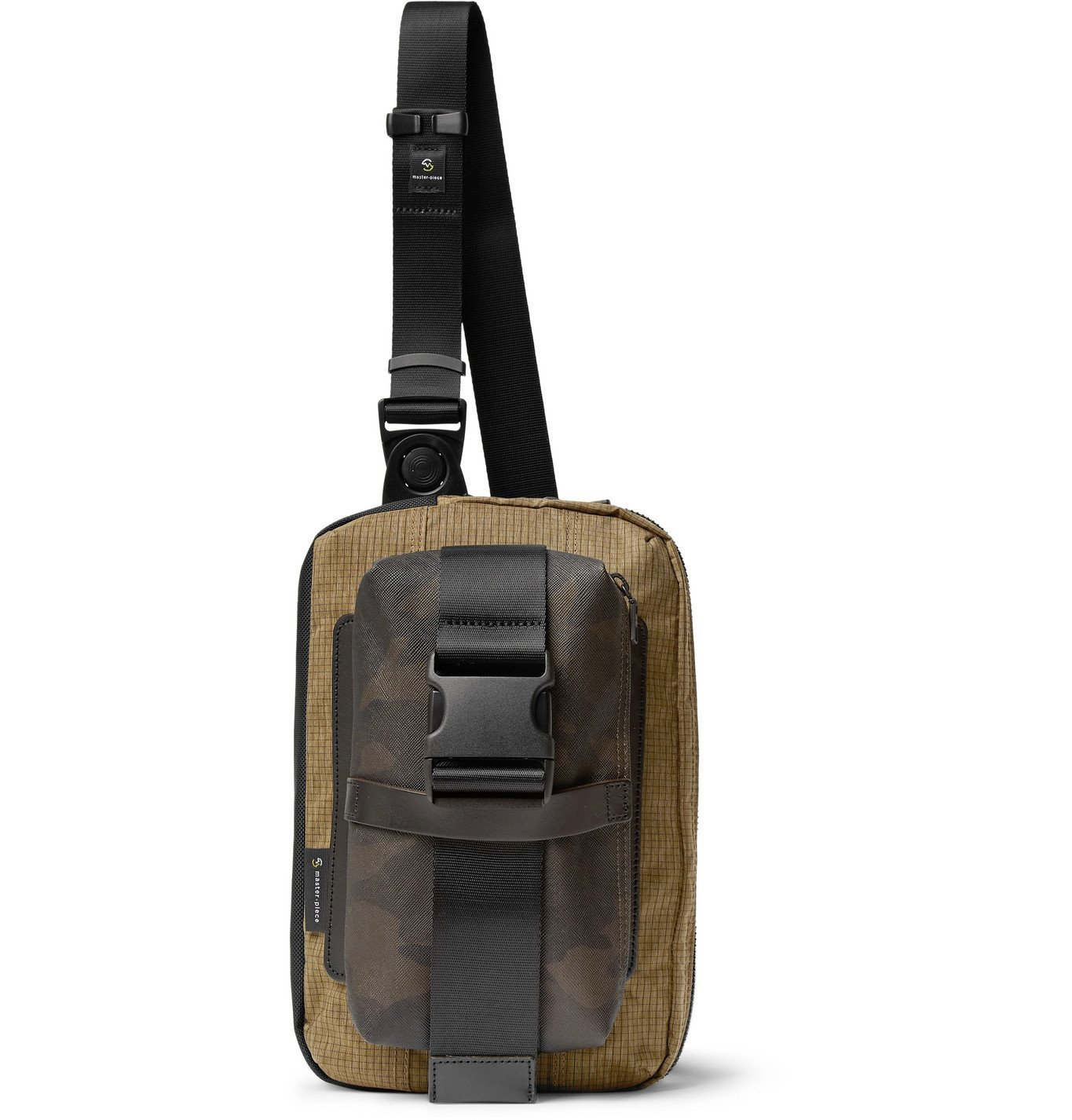 Photo: Master-Piece - Rouge Camouflage-Print Coated-Cotton, CORDURA Ripstop and Nylon Sling Backpack - Black