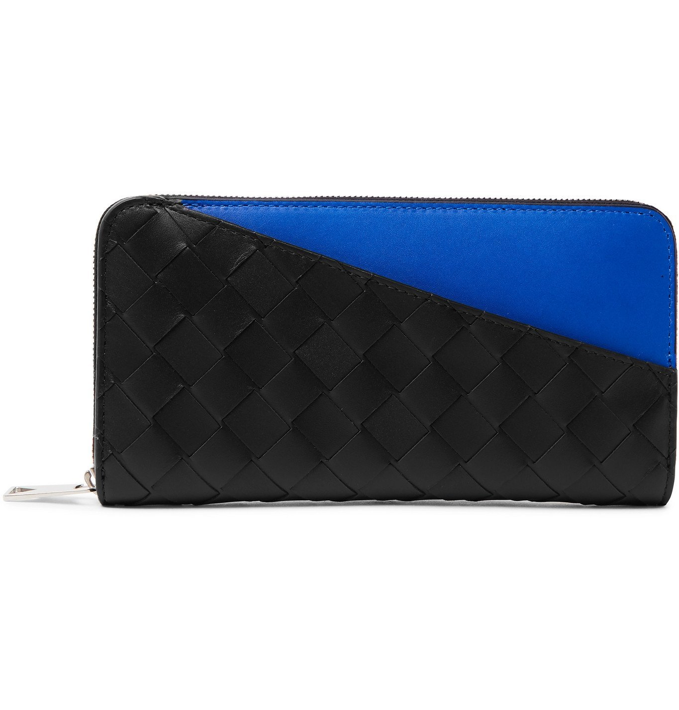 Photo: Bottega Veneta - Intrecciato Leather Zip-Around Wallet - Black