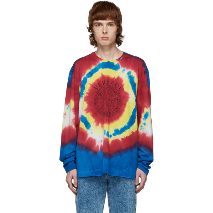 Photo: Versace Multicolor Tie-Dye Medusa T-Shirt