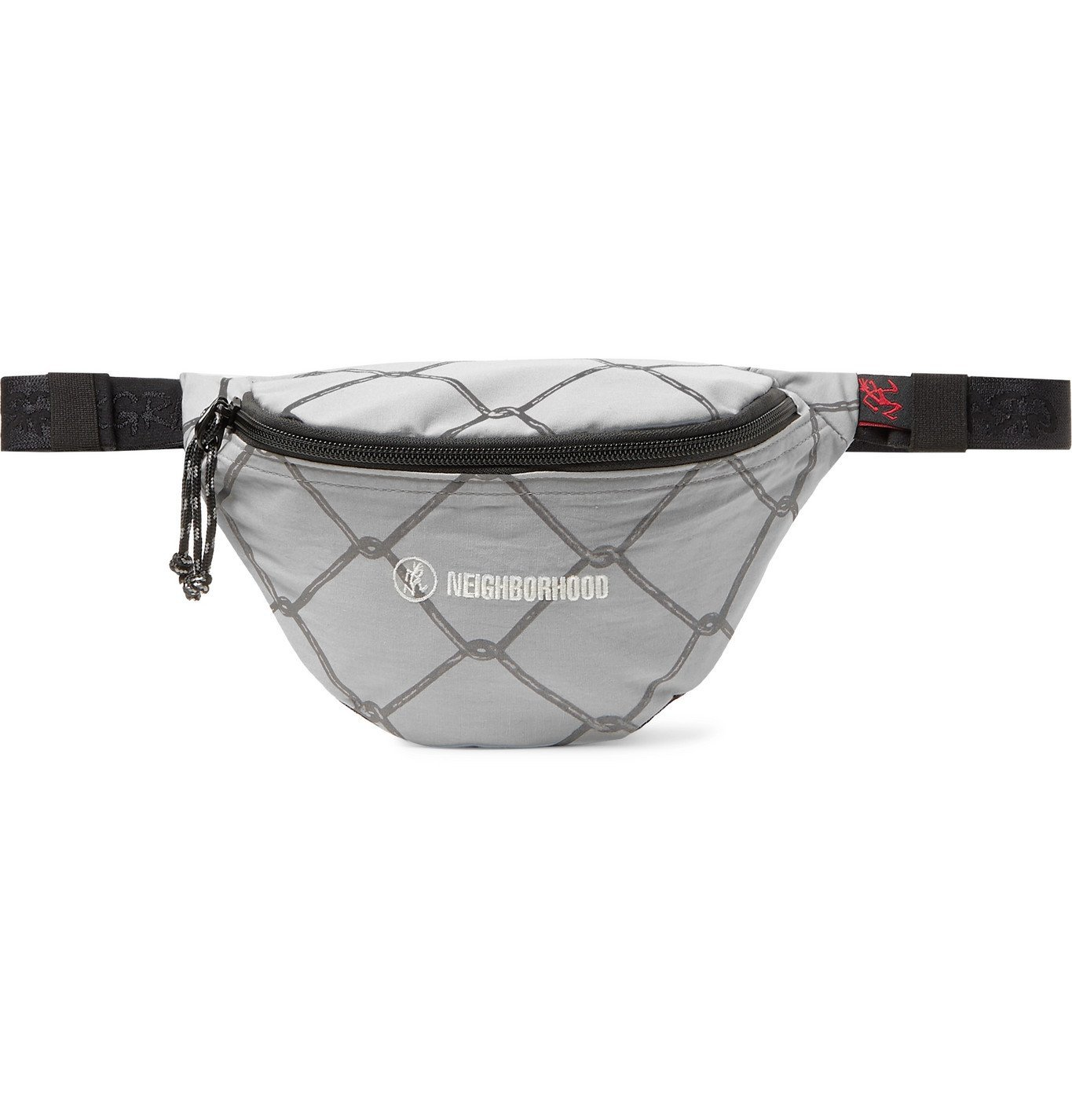 Photo: Neighborhood - Gramicci Logo-Embroidered Printed Canvas and Mesh Belt Bag - Gray