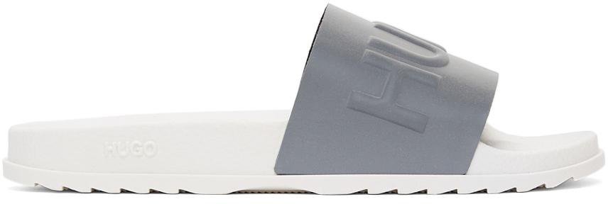 Photo: Hugo Silver & White Rubber Match Slides