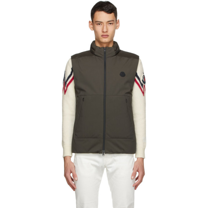 Photo: Moncler Khaki Down Skihist Vest