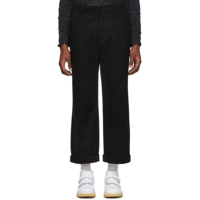 Photo: Acne Studios Black Cropped Preston Trousers
