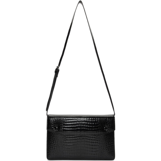 Photo: Maison Margiela Black Croc Accordion Messenger Bag