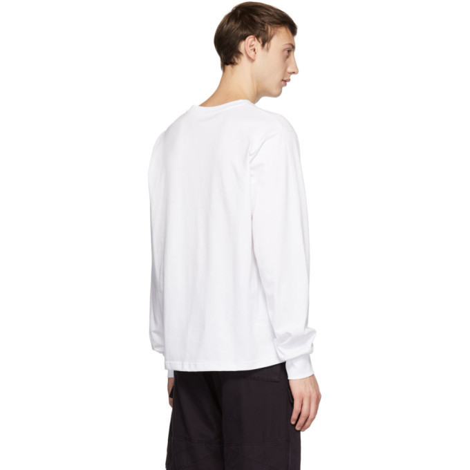 032c White Embroidered Classic Long Sleeve T-Shirt