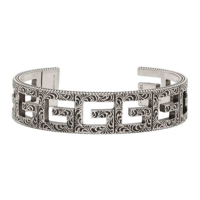 Photo: Gucci Silver Square G Cuff Bracelet