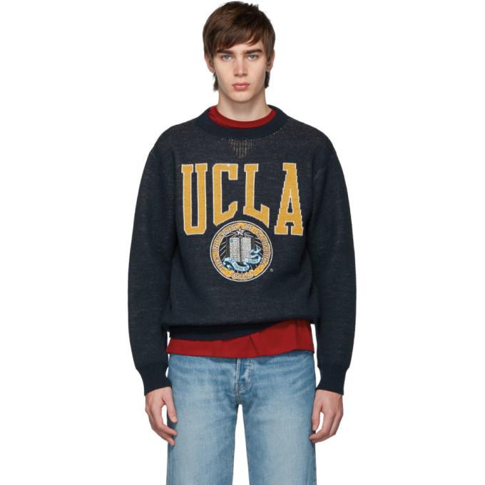 Photo: Junya Watanabe Navy UCLA Crewneck Sweater