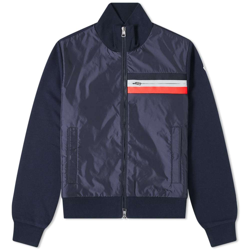 Photo: Moncler Tricolore Nylon Front Knitted Jacket